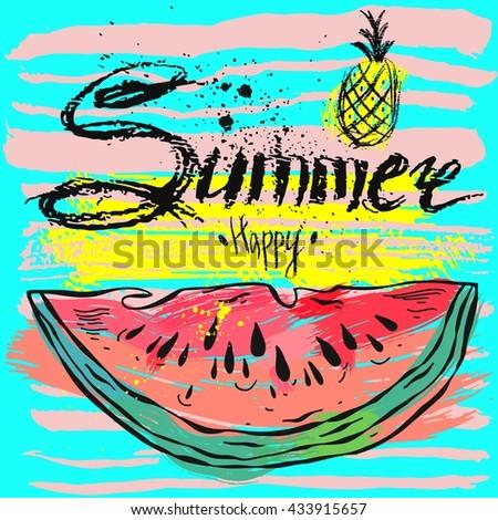 vector summer backgroundhello