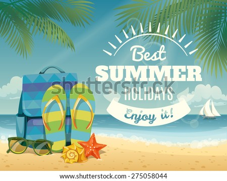 vector summer background with