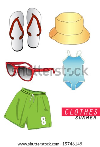 Vector Summer Clothes - 15746149 : Shutterstock