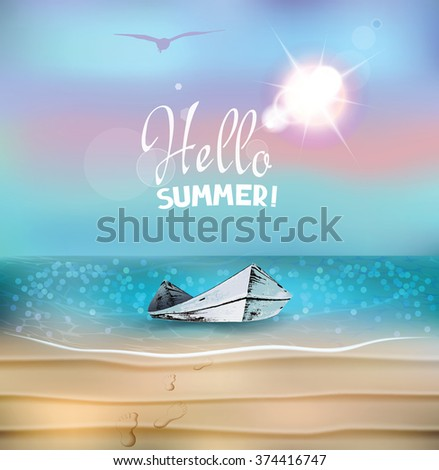 vector summer composition with
