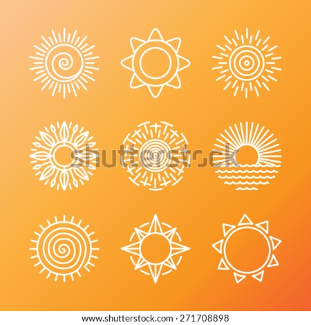 vector summer concepts in