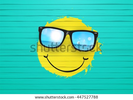 vector summer design yellow