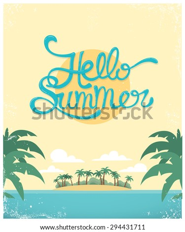 vector summer greeting card