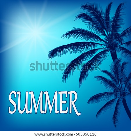 vector summer illustration with