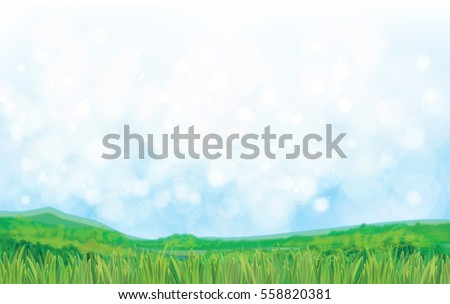 vector summer nature background