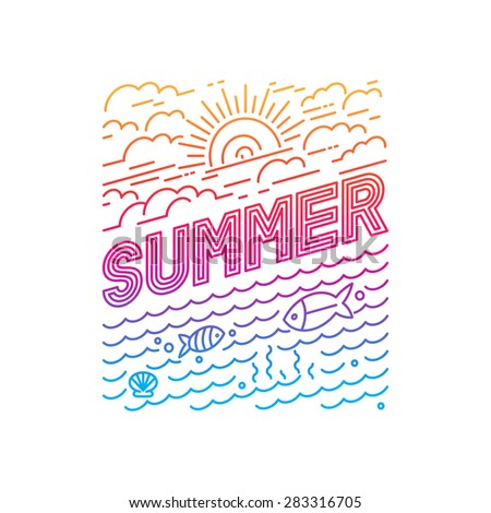 vector summer poster and banner
