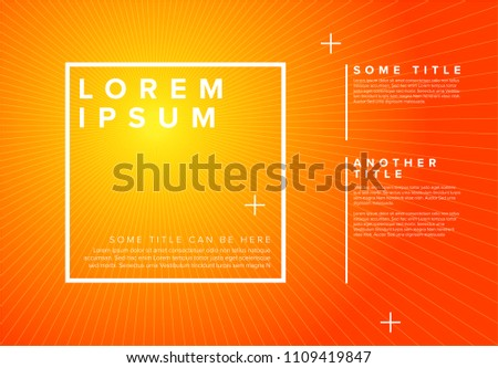 Vector summer poster template with hot sun rays background