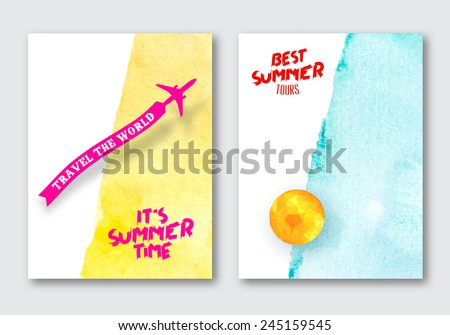 vector summer posters template