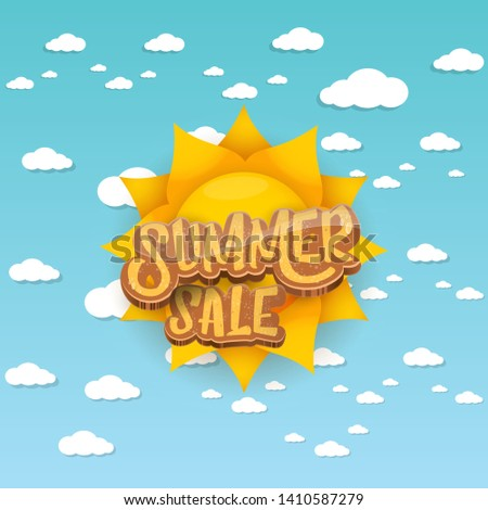 vector summer sale label or tag