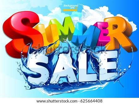 Vector Summer Sale Water Wave