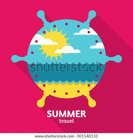 vector summer sea travel