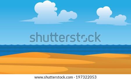 vector summer wallpaper with