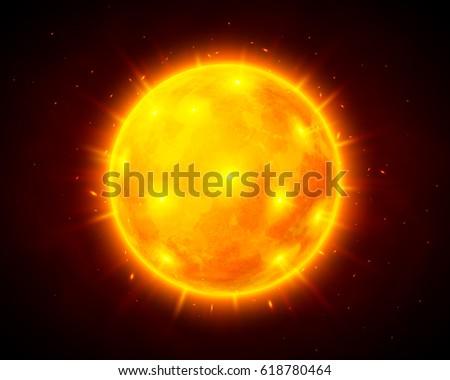Stock Photo Vector sun cosmic illustration