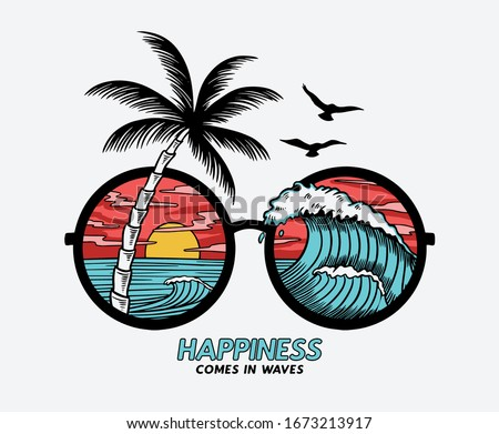 vector sun glasses with
