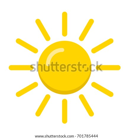 Vector sun icon. Weather icon