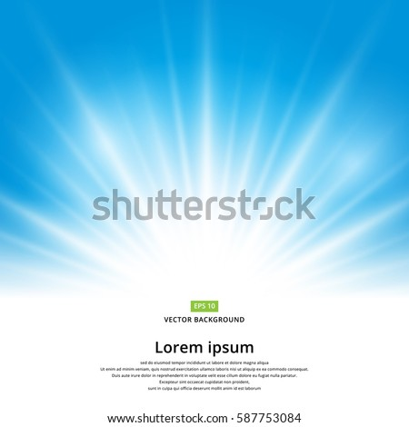 stock-vector-vector-sun-light-effect-on-blue-background-with-copy-space