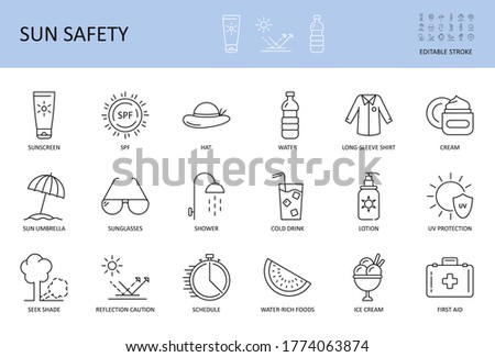 vector sun protection and