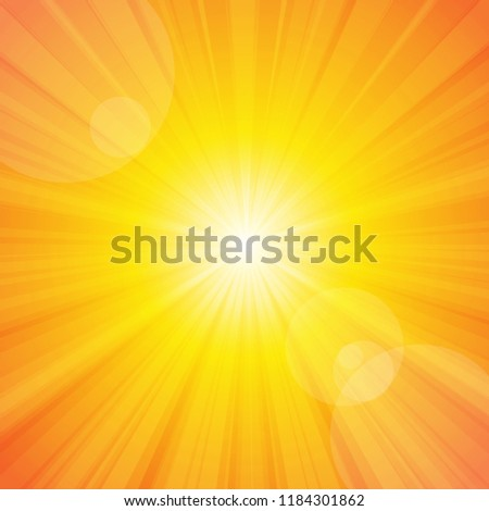 Vector : Sun shine with yellow background