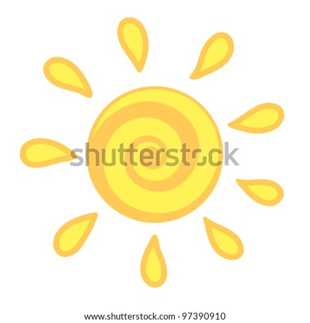 vector sun  sunshine