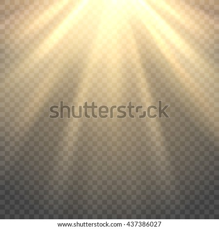 vector sunlight sun beams or