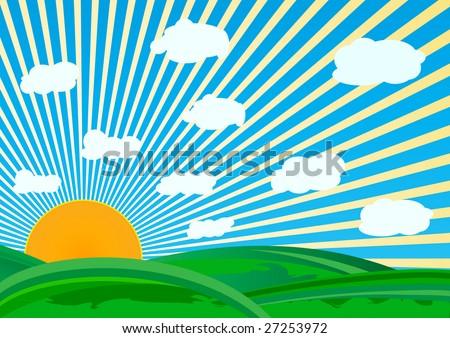 clip art sunny. vector sunny day; clip-art
