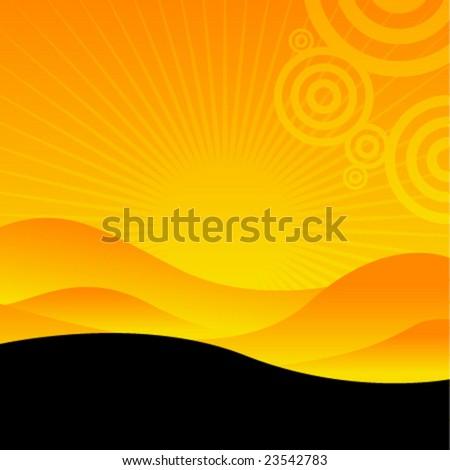 vector sunny landscape