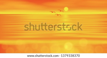 vector sunrise on the sea