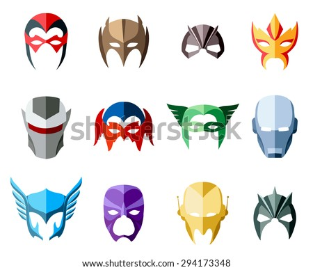 vector super hero masks for