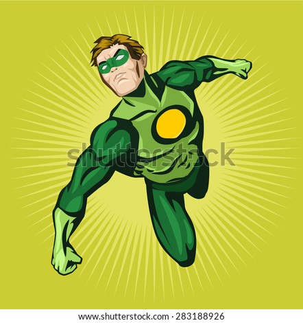 vector superhero comic