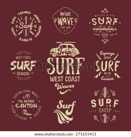 vector surf graphics  insignias