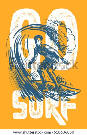 vector surf man t shirt pattern
