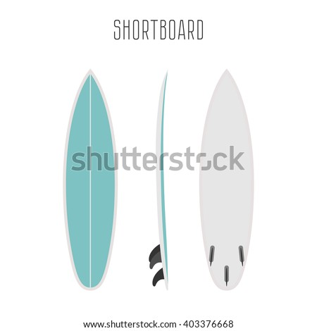 vector surf short board with