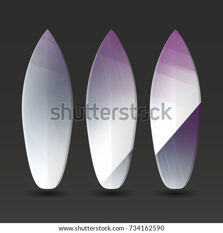 vector surfboards design with