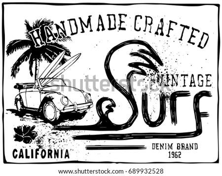 vector surfing illustration