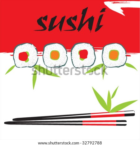 vector sushi composition