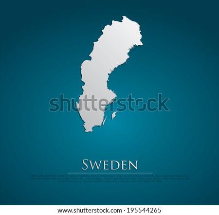 Vector Card Paper Sweden Map Template Download Free Vector Art - Sweden map template