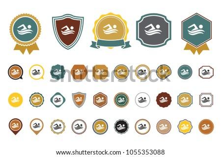 vector swimming icon