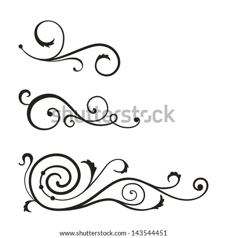 Vector swirl elements for design.