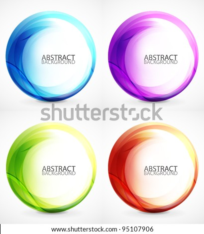 Stock Photo Vector swirl set