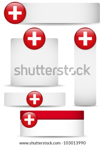Vector - Switzerland Country Set of Banners