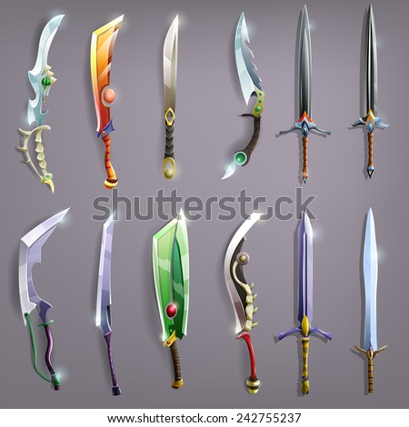 vector swords set   vector