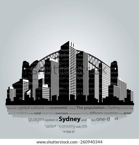 vector sydney city silhouette