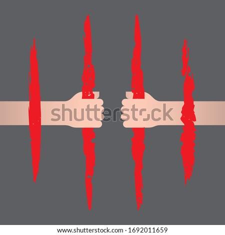 vector symbol jail hands