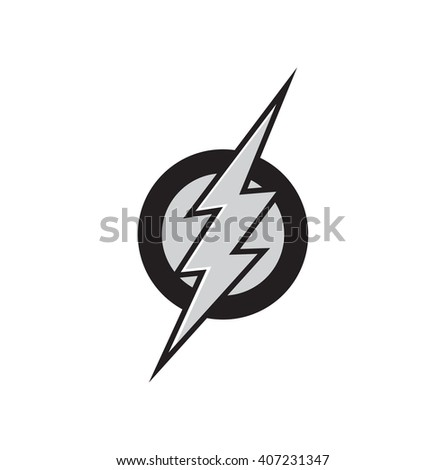 vector symbol of flash