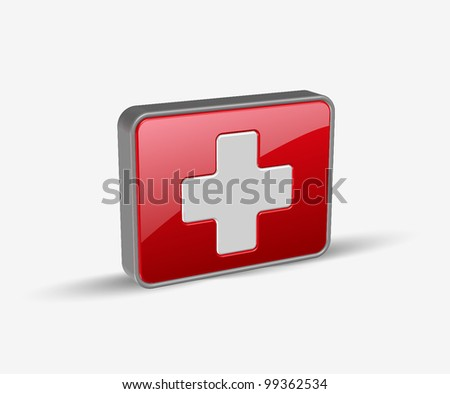 vector symbol of medical icons design.