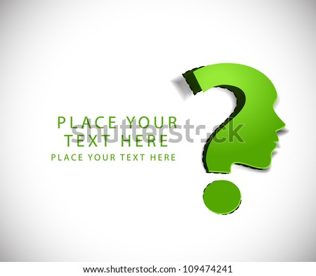 vector symbol of question mark in green background.