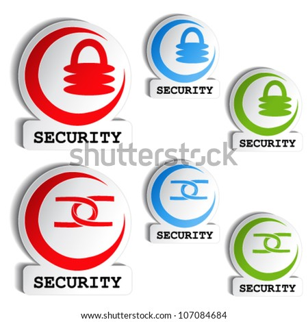 Vector symbol of security - set of buttons