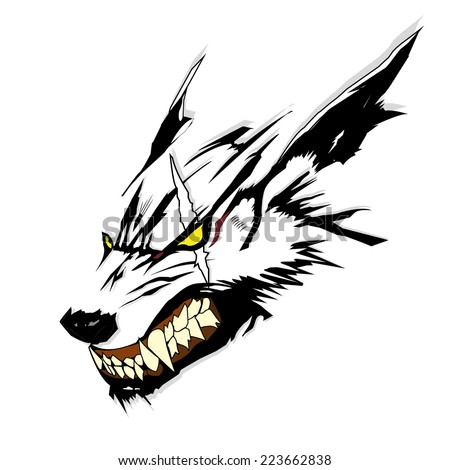 vector symbol tattoo wolf