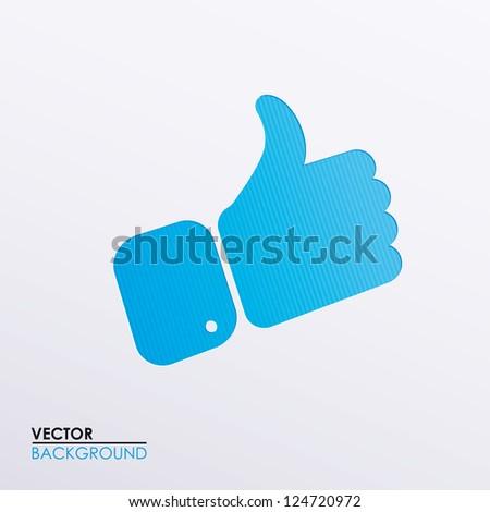 Vector symbolic hand image