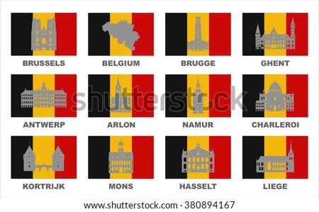vector symbols of belgium